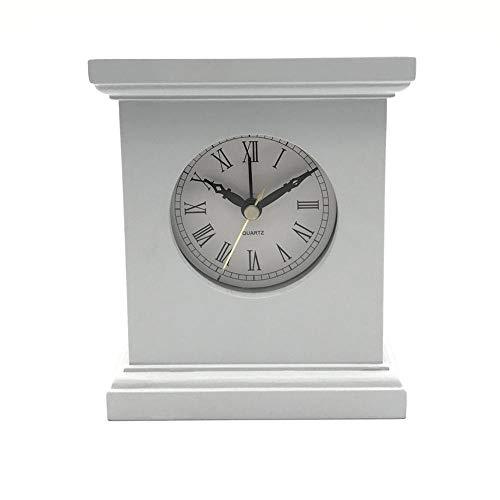 Relddd Relojes de Chimenea Rectangular sólida Madera Reloj Oficina Creativa sólida Madera...