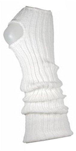 (AVIDESO Stulpen Damen/Mädchen/Kinder - Ballettstulpen + Fersenloch - Tanzstulpen Beinstulpen Armstulpen Strick Weich Legwarmer (Kinder (ca. 36cm lang), weiß))