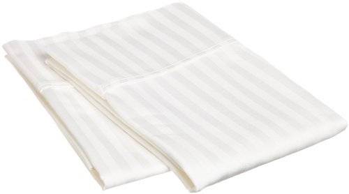 Linenwalas 100% Cotton Standard Size Striped Pillow Cover (Set of 2) -...