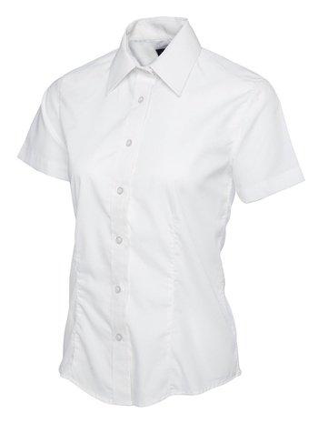 Uneek Clothing Ladies Womens Herren Popelinhemd Kurzarm Casual formal Negociations Arbeit Uniform Weiß weiß XL -