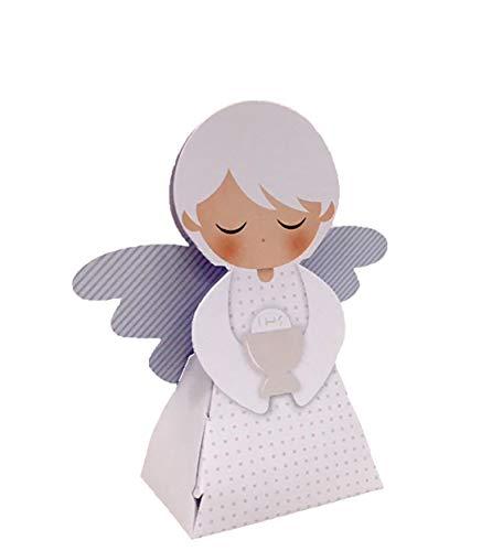 20 pezzi portaconfetti a forma di angelo celeste comunione bambino scatolina carta bomboniera