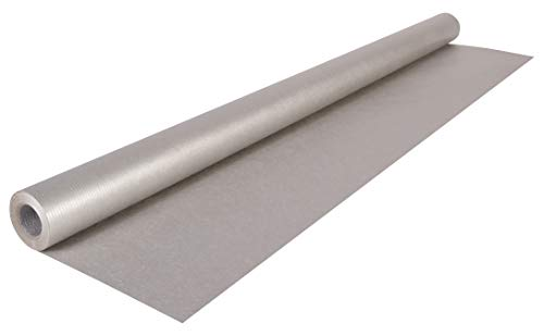 Clairefontaine 195776C Rolle silberfarbenes Kraftpapier, 10 x 0,7 m, 70g/m2, 1 Stück, Silber