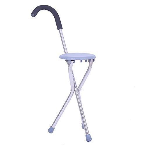 Vorteil Krücken (XRXY Kreativer alter Mann-Schemel / dreibeinige Krücken / mit Seat Cane Chair / Collapsible Walker)