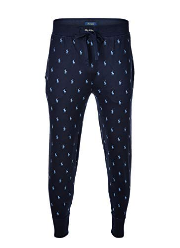 Polo Ralph Lauren Herren Jogginghose - Jogger Pant, Sleep Bottom, lang, blau XL (X-Large)