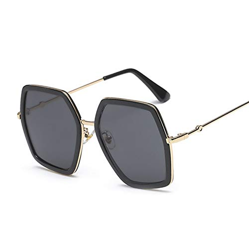 QDE Sonnenbrillen Sonnenbrille Frauen Gradient Lens Sonnenbrille Für Frauen Square Oversized Shades Female Lady, Blackgray