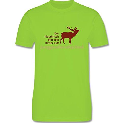 JGA Junggesellenabschied - Platzhirsch - Herren Premium T-Shirt Hellgrün