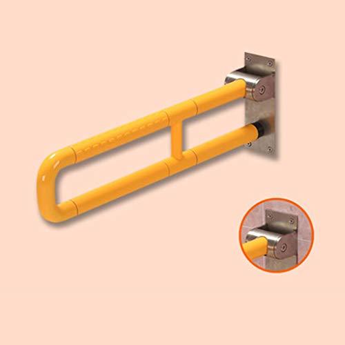 Z&YY Edelstahl-barrierefreies Badezimmer Alter Mann U-förmiger Pfosten-Sicherheits-Handläufe/an der Wand befestigter gerader Tuch-Halter/Handlauf-Toilette WC-Badezimmer-Badewanne-Silber-Zupacken-S -