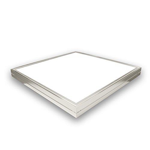 LED Deckenleuchte 60 Watt quadratisch 60x60cm - neutral weiß - alu, 220 Volt, Schutzklasse IP20, Abstrahlwinkel 120 Grad