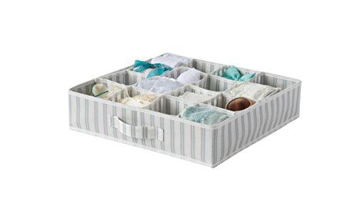 Compactor Home ran7508Divisor de cajón Fibra No Tejido/Polipropileno, Color Blanco/Gris 40x 40x 9cm