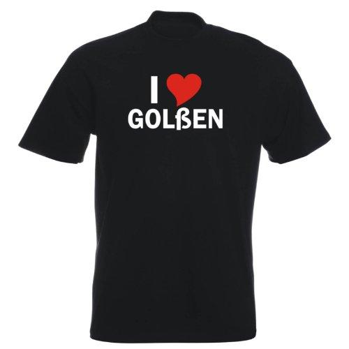 T-Shirt mit Städtenamen - i Love Golßen - Herren - unisex Schwarz