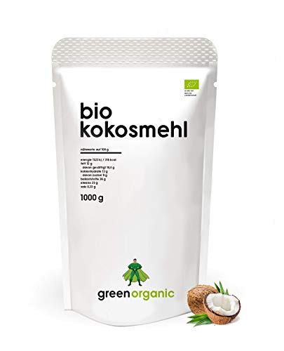 Image of BIO PREMIUM KOKOSMEHL - lower-Carb, glutenfrei, vegan, entölt, proteinreich, ballaststoffreich, Paleo Superfood, nachhaltig und fair angebaut, 1000g
