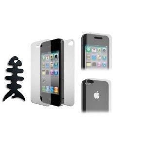 Fosmon (Vorder-und Rückseite) ultraglatter kristallklare Display Schutzfolie für Apple iPhone 4/4S - 3er Set Schutzfolie
