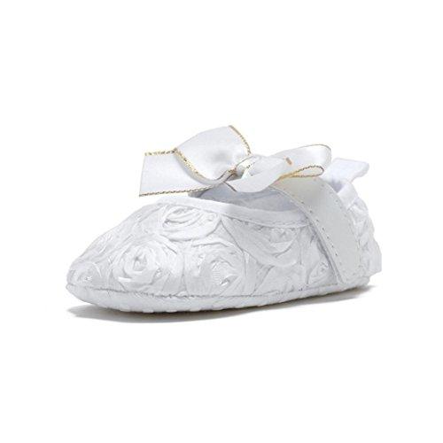 Pour 0-12 mois Bébé,Transer ® Joli bébé filles anti-dérapant fleur chaussures Sneaker souple Blanc