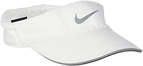 Nike Aerobill Visière Femme, Blanc/Reflective Silver, FR : S-M (Taille Fabricant : S-M)