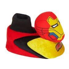 Marvel Iron Man Kleinkind Plüsch weichen Kopf Socke warme Pantoffeln UK Größe 8/9, USA Größe 9/10, EU-Größe, 26/27