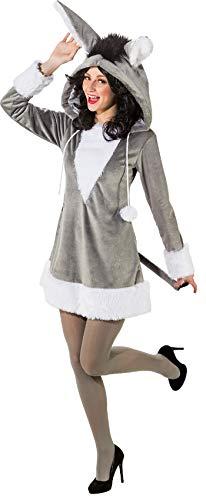 Pferd Weißes Kostüm - narrenkiste O9140-38-40 grau-weiß Damen Esel Kleid Pferde Kostüm Gr.38-40