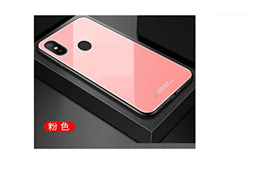 J Shockproof TPU Back Cover with Back Tempered Glass for Xiaomi Mi A2