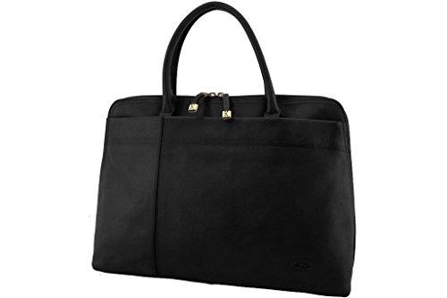 Borsa shopping, Katana, in pelle di vacchetta, colletto 82563 K nero