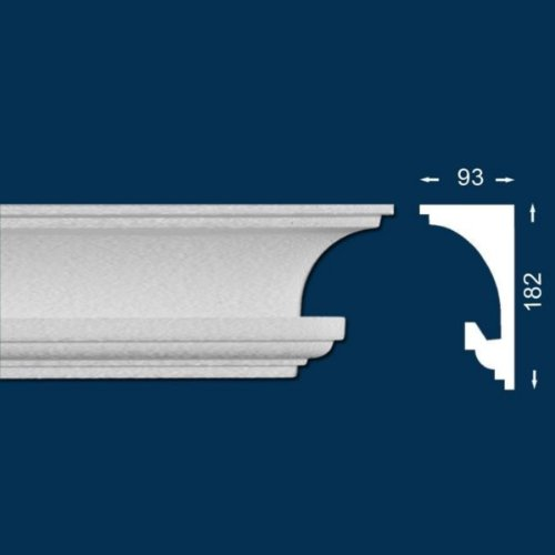 20 METROS - PERFIL DE ILUMINACION / PERFIL PARA TIRAS LED ««WIESEMANN LL3»» - CORNISA / MOLDURA PARA TECHO / DECORATIVA (ILUMINACION INDIRECTA) (ENVASE ECONOMICO)