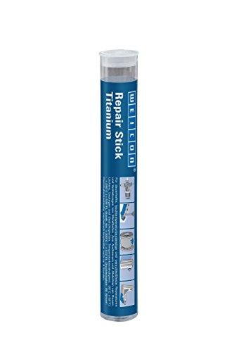 WEICON Repair Stick, Titanium, 115g, 2 Komponenten Spezial Kleber,Epoxidharz, hitze- und verschleißfeste Reparatur für Metallteile, Behälter uvm.