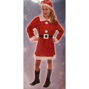 Children's Christmas Girl Santa Mrs Claus Nativity Fancy Dress Costume-4-6 ()