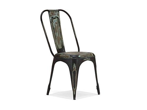 massivum Stuhl Torix 41x95x41 cm Eisen braun lackiert Eisen Stuhl