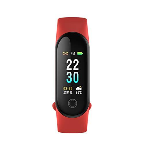 9302sonoaud M30 Braccialetto Intelligente di Sport di Pressione sanguigna di ricordo di frequenza cardiaca Impermeabile Rosso
