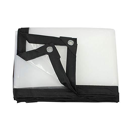 Plane Plastikstoff-Starke transparente wasserdichter Stoff-fleischiger Regen-Film-Rand-Regen-Stall-Film-Windschutzscheiben-Isolierung Sunscreen staubdicht (Size : 3m×6m)