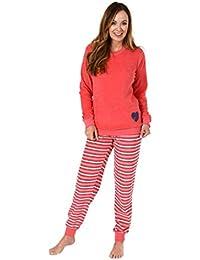 4f268f4528 Damen Frottee Pyjama Schlafanzug Langarm mit Bündchen 281 201 93 006