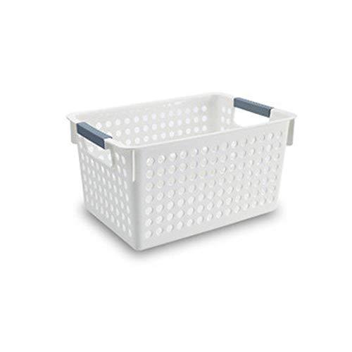 JIUBAQU Aufbewahrung Schubladen einfacher Supermarktschränke Sortieren Aufbewahrungskörbe Badregal Gewürzregal Aufbewahrungsbox Waschkorb Abfallkorb(3 Stücke) 27.2 * 15.8 * 14cm -