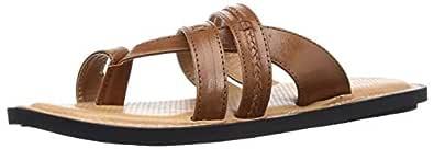 BATA Men's Biden Brown Leather Hawaii Thong Sandals-8 UK/India (42 EU) (8743989)