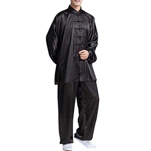 BESBOMIG Clásico Unisexo Trajes Tang Kung fu Artes Marciales Conjuntos de  Uniformes - Artes Marciales Tai b2f4714695d