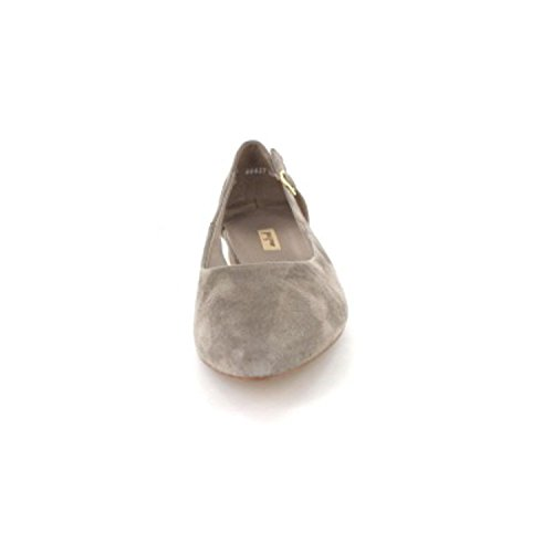 Paul Green 3254-022 Damen Ballerina Aus wertigem Leder Flexible Sohle mit Absatz Grau
