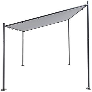 SORARA MILANO Gazebo | Grey | 285 x 400 x 295 x 220 | Outdoor Canopy and Shelter