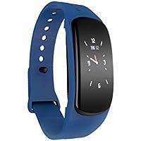Clispeed Reloj Elegante del podómetro de la frecuencia cardíaca Impermeable de la Pulsera de Bluetooth