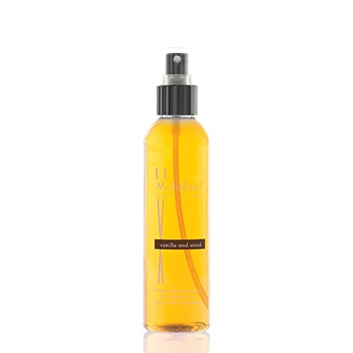 Millefiori Vanilla und Wood Luxuriöse Raumspray Natural 150 ml, Plastik, Orange, 4.3 x 3.4 x 16.7 cm