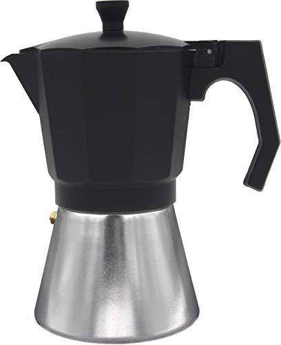 Bastilipo - Mokka Induction 9N - Kaffeemaschine aus Aluminium für 9 Tassen - elektrisch, Ceranfeld und Gas - Isoliergriff und verstärkter Kessel -