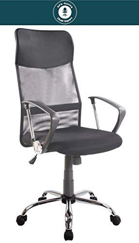 SPS-Racing Exclusiver Designer Bürostuhl - AIRO - ergonomischer Drehstuhl Schreibtischstuhl höhenverstellbar Chefsessel Executive Office Chair schwarz -