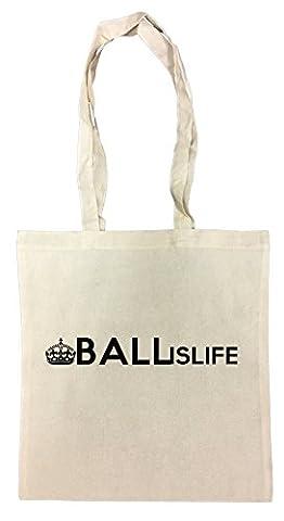 Ball Is Life Sac à Provisions Plage Coton Réutilisable Shopping Bag Beach Reusable
