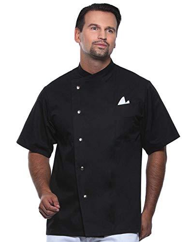Coole-Fun-T-Shirts LEGE Dich Niemals MIT Einem Koch AN Kochjacke Gustav schwarz Gr.66