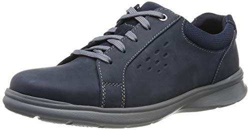 Clarks Cotrell Stride, Zapatos de Cordones Derby para Hombre, Azul Marino, Piel Marina, 45 EU