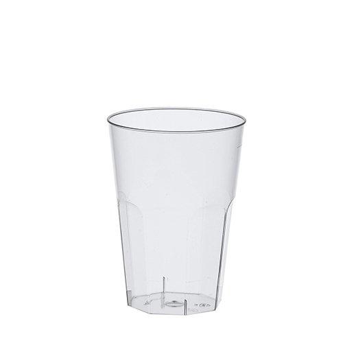 Gastro-Bedarf-Gutheil 30 bruchfeste Cocktail Becher Trinkbecher 0,3 l 300ml Mehrweg Mehrwegbecher aus hochwertigem PP Kunststoff als Trinkbecher Caipirinha