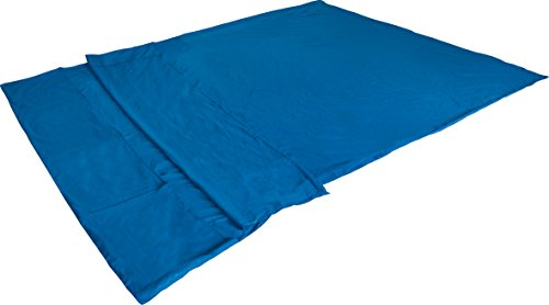 High peak-lenzuolo per sacco a pelo, blu, rettangolare matrimoniale