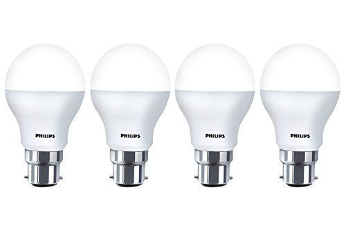 Philips Base B22 9-Watt LED Bulb (Pack of 4, White)