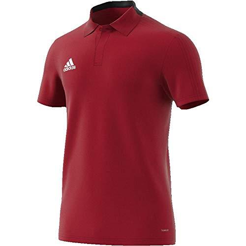 adidas Herren CON18 CO Polo Shirt Power red/Black/White S