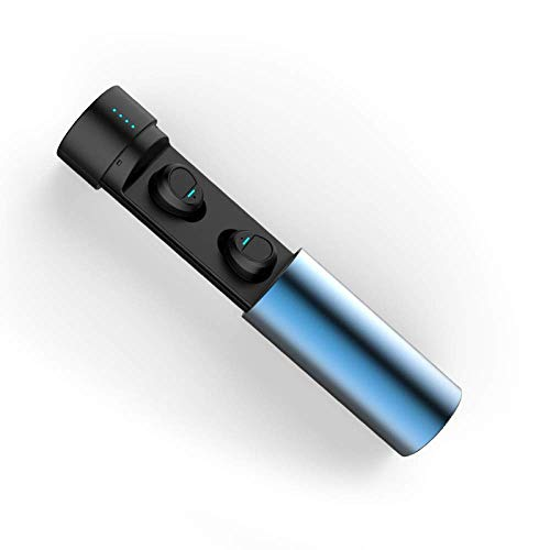 Z&HA Bluetooth Kopfhörer V5.0, True Wireless Earbuds In-Ear-Ohrhörer Mit Quick Charging Case Und Mikrofon, CVC8.0 Rauschunterdrückung Und IPX6 Waterproof Headset Für Binaural Anruf,Blue