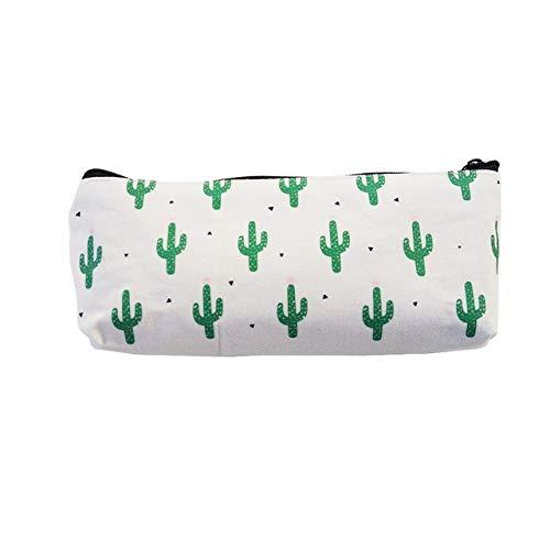 Vommpe Trousse pour filles garçons Pinceaux Pouch papeterie de stockage Sac de maquillage sur toile Cactuses 1pcs Vommpe