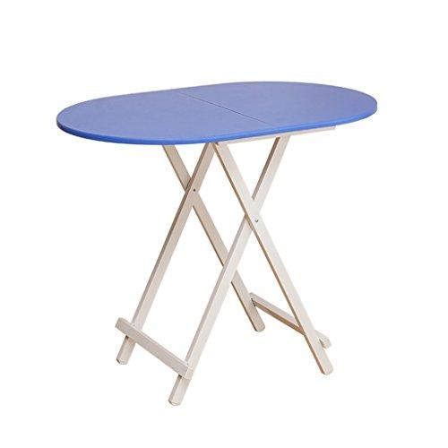 Ymxljf tavolo da pranzo pieghevole, scrivania computer, tavolo ovale semplice portatile, tavolo da stalla all'aperto (colore : blue)