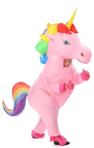 Pferd 2 Personen Kostüm - GOPRIME Herren Verkauf jetzt !! Einhorn-Kostüm Horn Pferd Inflatable Anzug Einheitsgröße Regenbogen-Large