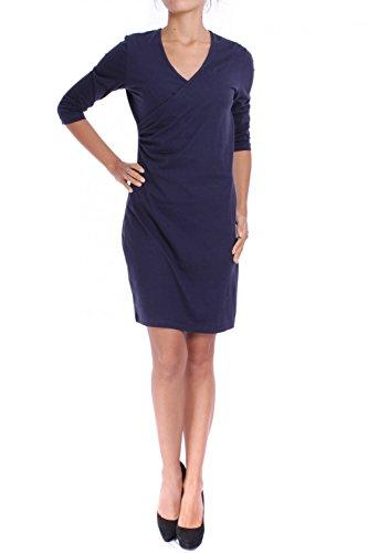 ANTA Q'ULQI - Abito / Vestito scaldacuore maniche 3/4 in jersey 100% cotone Tanguis biologico - blu, XS